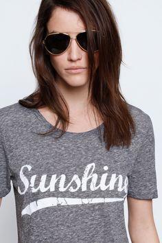 T Shirt Walk Chine, gris chine, Zadig & Voltaire