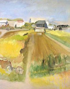 """Farm Scene"" by Jane Freilicher, 1963."
