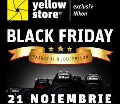 Black Friday la Yellow Store ~ Tech Reviews Black Friday continua si in zilele de 22 si 23 Noiembrie 2014. Black Friday, Linux, Nikon, Tech, Store, Larger, Linux Kernel, Technology, Shop