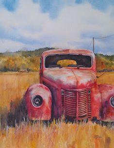 Artstrings Gallery: Rusty Red Truck