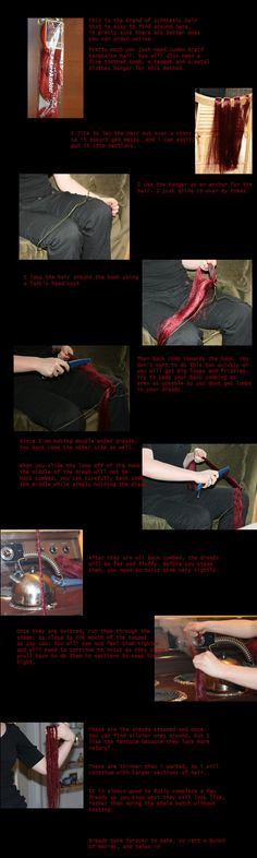 How to make double ended synthetic dreads. this is a quickie tutorial, i really should be working on the dreads themselves Please check out this page : ESPECIALLY the forum. very nice, very helpful...