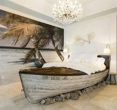 """This vacation home rental in Orlando has a bedroom called """"Castaway."""" I'd love to spend a night in this cool boat bed! :)"""