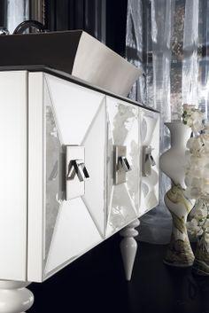 Topex Armadi Art White Glass Fiaba Bath Vanity