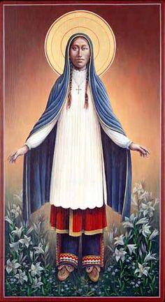 New Roman Catholic saint Kateri Tekakwitha