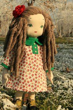 Sofia - handmade doll using a pattern by Jill Hamor from her book, Storybook Toys