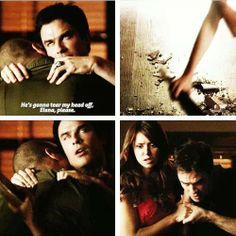 Elena saving Damon in #5x08 #DeadManOnCampus #TVD #Delena