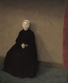 Vilhelm Hammershøi - An old woman