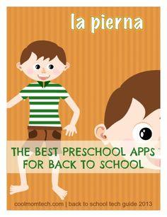 The best preschool apps for back to school. (HUGE round-up!)
