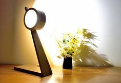 PARINO Lamp in Wengé and polished Beech