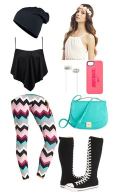 """""""I'm bored."""" by searra-carriker ❤ liked on Polyvore featuring Boohoo, Converse, Charlotte Russe, Beats by Dr. Dre, NIKE and Wet Seal"""