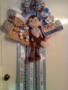 Baby hospital door wreath/hanger
