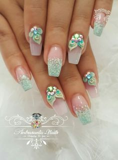 you should stay updated with latest nail art designs, nail colors, acrylic nails. Summer Acrylic Nails, Acrylic Nail Art, Spring Nails, Summer Nails, Orange Nail Designs, 3d Nail Designs, Acrylic Nail Designs, 3d Nails, Cute Nails
