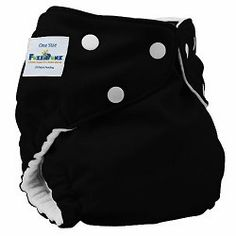 Fuzzi Bunz Cloth Diapers in Black! One-Size Pocket Diapers and Perfect Size Pocket Diapers