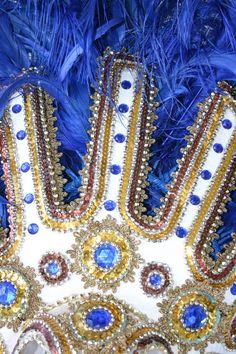 Brazilian samba headress. Azul