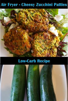 These low-carb cheesy zucchini patties come out browned and delicious in the air fryer!!  #lowcarb #lowcarbrecipes #foodhealthnutritionwealth #foodie #healthiswealth #healthyfoodporn #zucchini #keto #ketodiet #ketofriendly #cheddar #nutritious #yummy #airfriedfood #airfryerrecipes #youtube #youtuber #powerairfryeroven #zucchinirecipes #nutrition #delicious #recipes #howtocook #recipevideo #lchf Low Carb Recipes, Healthy Recipes, Delicious Recipes, Zucchini Patties, Air Fried Food, Air Fryer Recipes, Health And Nutrition, Food Videos, Wealth