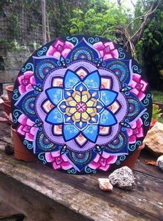 Oh The Artwork! This Mandala Art with These Particular Color Choices is Gorgeous. - Oh The Artwork! This Mandala Art with These Particular Color Choices is Gorgeous! Mandala Drawing, Mandala Painting, Dot Art Painting, Tole Painting, Zen Art, Arabesque, Stone Art, Mandala Design, Doodle Art