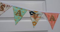 Aztec Banner, Mint Gold Peach FABRIC Banner Tribal Bridal Shower Arrows NAME Banner, Mint Metallic Gold Fabric Banner, Southwestern Banner by GmaCustom4You on Etsy