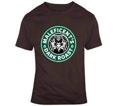 Maleficent Dark Rost Coffee T Shirt Maleficent, Gifts For Friends, Coffee, Dark, Drinks, Mens Tops, How To Make, Cotton, T Shirt