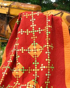 Urban Amish traditional quilt pattern in orange, Robinson Pattern Company