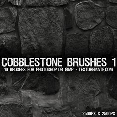 Cobblestone 1 Brush Pack for Photoshop or Gimp | texturemate.com - Free Textures, Brushes, Patterns, and Design Articles!