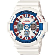 G-Shock GA-201TR-7AER watch - White Tricolor
