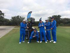 Advantica sporting Run DMC look at Tampa Bay Rays charity golf tournament.