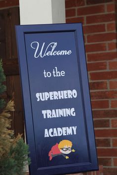 Superhero Training Academy Birthday Party Ideas - Spaceships and Laser Beams - Superhero Training Academy Birthday Party Ideas This fun sign greeted super-heroes in training at this epic birthday party. Avengers Birthday, Superhero Birthday Party, 6th Birthday Parties, 4th Birthday, Birthday Ideas, Superhero Superhero, Super Hero Birthday, Batman Party, Diy 4 Year Old Birthday Party
