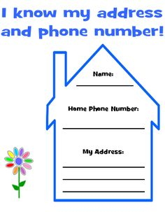 Learning Phone Number Printable Writing Your Phone Number