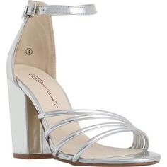 2cfbb25dc4d8d9 Shop for Dolcis Silver Multi Strap Block Heel Sandals at ShopStyle.