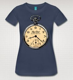 Stop Clockwatching Altered Vintage Art by WinkinBitsyClothing