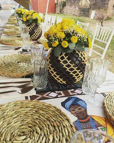 African wedding decor. Traditional Wedding Decor, African Traditional Wedding, Neo Traditional, Flower Centerpieces, Wedding Centerpieces, Wedding Decorations, Table Decorations, Party Themes, Party Ideas