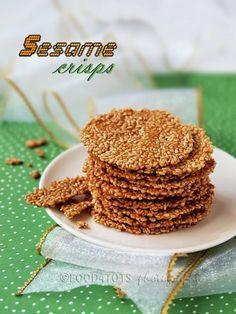 sesame crisps...low carb snack