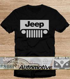 JEEP BEER TShirt Tee Shirts Black and White For Men by Automotives, $19.89