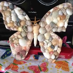 8 seashell butterfly - Mercari: Anyone can buy Seashell Painting, Seashell Art, Seashell Crafts, Deco Marine, Seashell Projects, Shell Decorations, Beach Ornaments, Glass Bottle Crafts, Sea Crafts