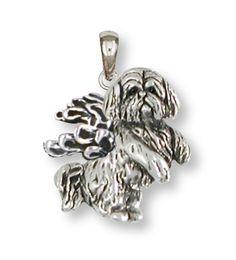 Lhasa Apso Pendant Handmade Sterling Silver Dog Jewelry LSZ20-AP