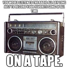 Kids of the 80s and 90s...I remember doing this while listening to 93Q