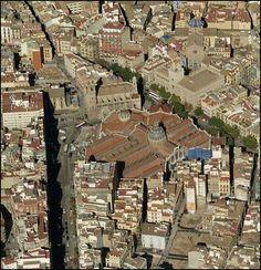 Vista aerea del Mercado Central