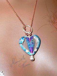 polished glass heart