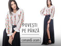 Simte traditia la fiecare pas!  #romanianblouse #folk #boho Folk, Kimono Top, Blouse, Women, Fashion, Blouse Band, Moda, Popular, Women's