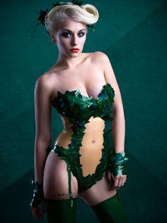Poison Ivy Latex Rubber Body suit by KaorisLatexDreams on Etsy
