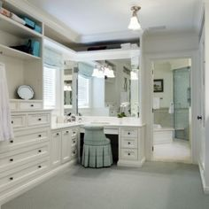 I like the dressing table & mirror with the built-in dressers.