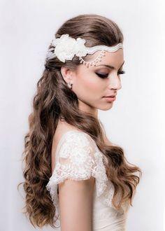 Seleção top de tiaras de cabelo para noivas [Foto]