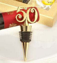 Wine Bottle Stoppers are wedding anniversary favors that will pass the test of time. Buy golden wedding anniversary favors now. 50th Anniversary Favors, Golden Anniversary, Anniversary Parties, Anniversary Ideas, 50th Birthday Party Favors, Wedding Party Favors, 50 Birthday, Birthday Brunch, Fabulous Birthday
