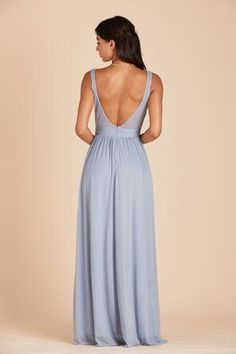 Jan Scoop Back Bridesmaid Dress in Light Blue Dusty Blue Bridesmaid Dresses, Affordable Bridesmaid Dresses, Bridesmaid Dress Styles, Bridesmaids, Dress Backs, Dress For You, At Least, One Piece, Gowns