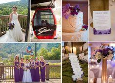 Purple Wedding Inspiration from Vermont Bride Magazine.
