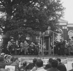 John F. Kennedy during a campaign stop at UK in 1960. Photo from Explore UK.