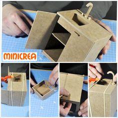 Build Make Miniature Furniture DIY PDF shaker furniture plans free Miniature Dollhouse Furniture, Miniature Crafts, Diy Dollhouse, Diy Cardboard Furniture, Barbie Furniture, Furniture Plans, Dolly House, Doll House Plans, Shaker Furniture