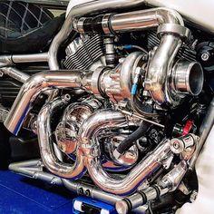 Custom Vrod harley turbo kit