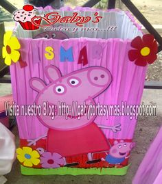 Gaby´s Tortas y Más!: Caja de Regalo Peppa Pig!! Sofia Party, Baby Party, Pepper Pig Party Ideas, Papa Pig, Aniversario Peppa Pig, Cumple Peppa Pig, Pig Birthday, George Pig, Party In A Box