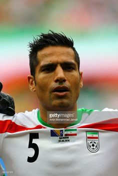 Amir Hossein Sadeghi of iran looks on during the 2014 FIFA World Cup Brazil Group F match between Bosnia and Herzegovina and Iran at Arena Fonte Nova on June 25, 2014 in Salvador, Brazil.